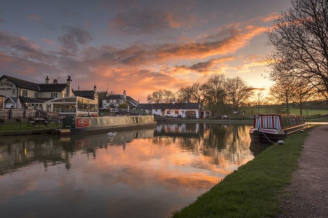 Foxton Locks Sunset