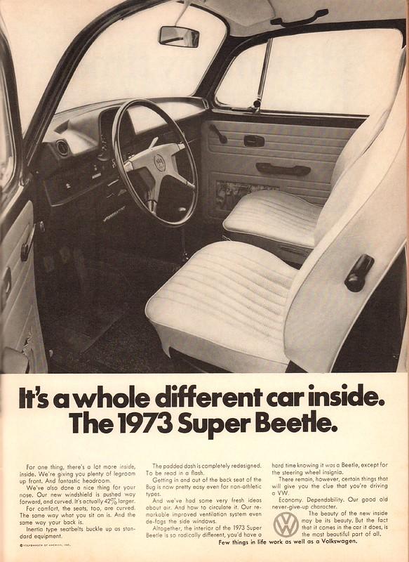 1973 Volkswagen Advertisement Playboy February 1973