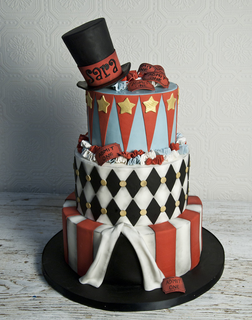 Marvelous Bc4740 Vintage Circus Birthday Cake Toronto For The Love Of Cake Personalised Birthday Cards Veneteletsinfo