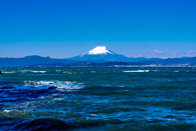 Mt. Fuji view from Enoshima Iland