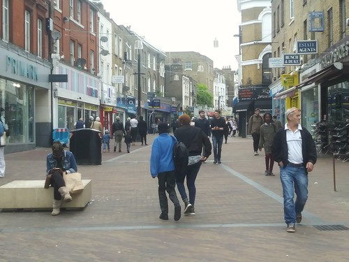 Mare Street/Narrow Way pedestrian zone, Hackney, London
