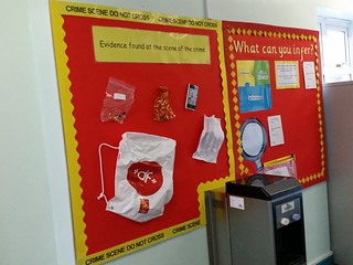 Year 4 & 5 corridor interactive inference display.
