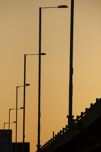 road uk sunset urban lights motorway lamps westlondon a40 uxbridge