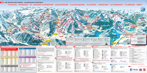 Salzburger Sportwelt - mapa sjezdovek