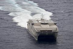USNS Millinocket (JHSV 3) transits the Pacific Ocean. (U.S. Navy file photo/MCC Christopher E. Tucker)