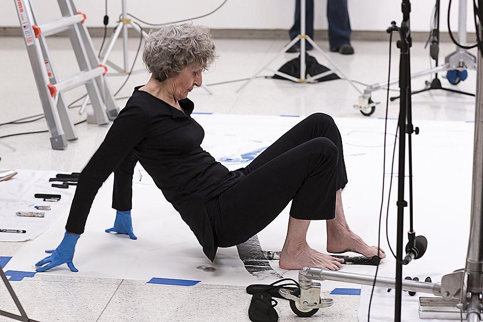 Trisha Brown, Floor Drawing/Performance, 2008 © Gene Pittman for Walker Art Center, Minneapolis