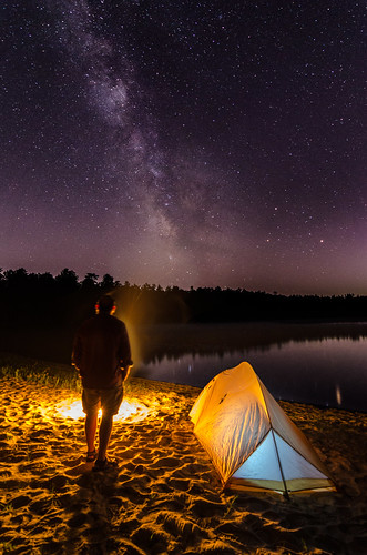 abnerspond cachalotscoutreservation campcachalot campfire landscape massachusetts milkyway night nikond7000 plymouth smoke tent