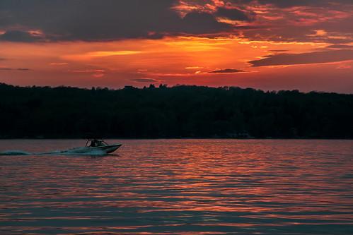 sunset lake ny evening warm dusk upstate canandaigua