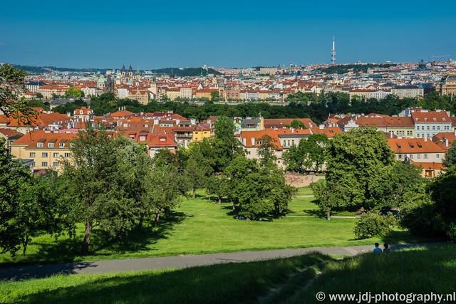 Petřín Hill view
