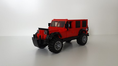 Jeep Wrangler Unlimited - SUV - moc - lego vehicles, 6-wide, minifig scale b