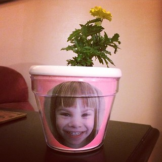 Kudos to Lucy's daycare teacher: Mother's Day flower pot with my crazy girl's face on it. | by poobou