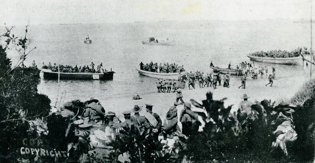 The Landing at Anzac, 25 April 1915 - Archives New Zealand Te Rua Mahara o te Kāwanatanga