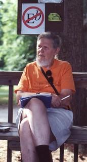 DIck at Ramblewood 2001 (photo by Linda Levin)