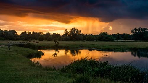 sunset summer england water river suffolk sudbury lightroomcc sonyrx100iii