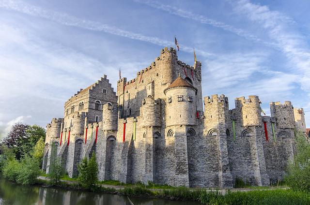 Gent vára, Belgium - Castle of Gent, Belgium Gravensteen