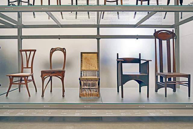 Chaises art nouveau (Vitra Design Museum, Weil am Rhein, Allemagne)