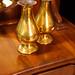 Pair of brass vases