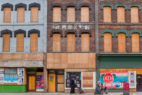 Yonge Street boarded up | by Phil Marion