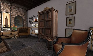 4 Seasons of Bedrooms: Autumn Glow (Fall Dressing Area) | by Hidden Gems in Second Life (Interior Designer)