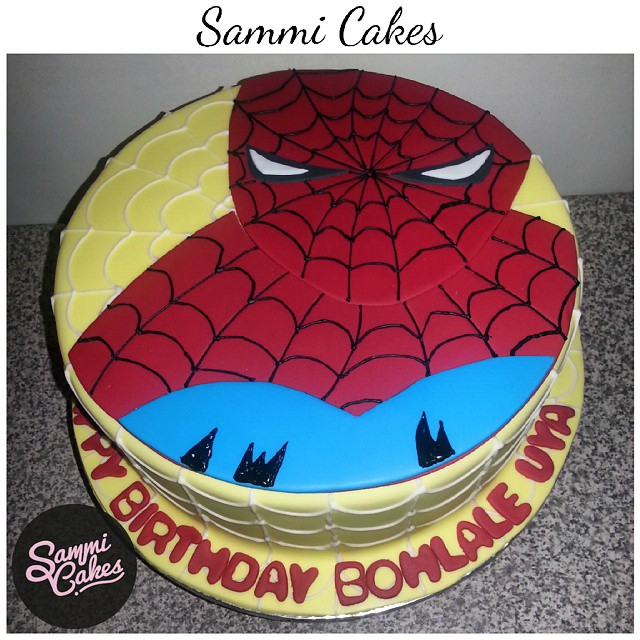 Stupendous Spiderman Birthday Cake For Bohlales 3Rd Birthday Spide Flickr Personalised Birthday Cards Veneteletsinfo