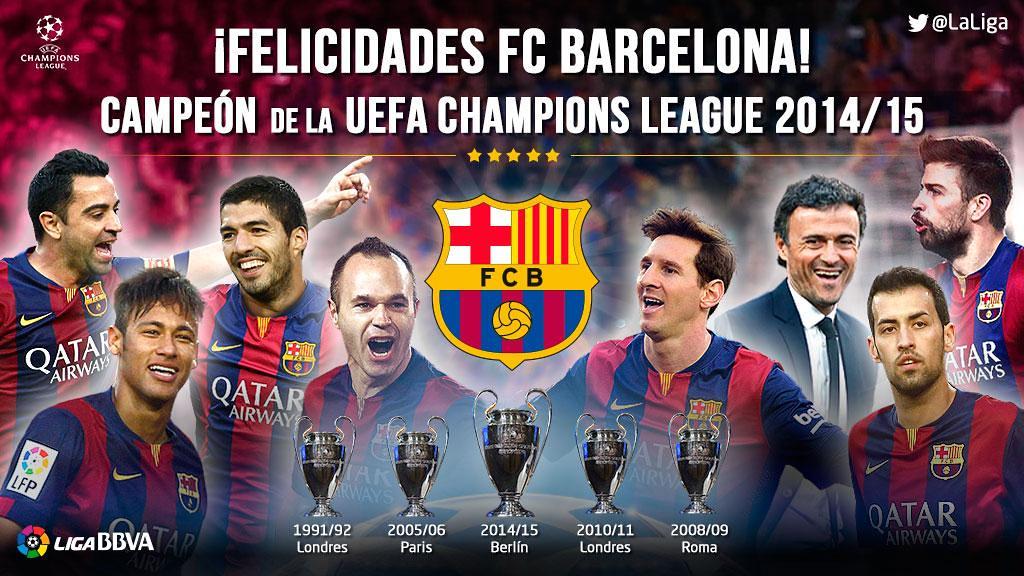 5 Champions League Para El Fc Barcelona 5 Champions League Flickr