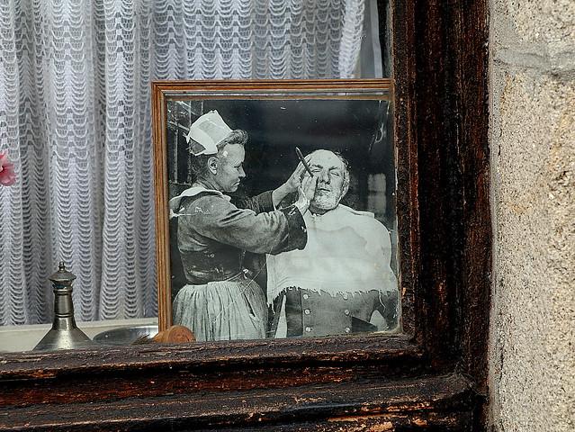 Breton woman barber