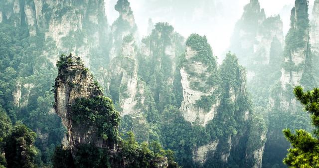 Un lugar que invita a volar. — at Zhangjiajie National Forest Park.