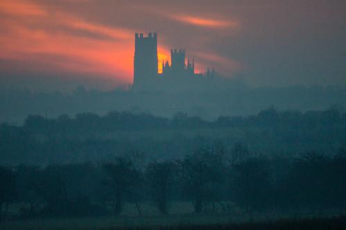 ancient england sunrise daybreak old european thefens dawn ely cambridgeshire europe eastanglia uk