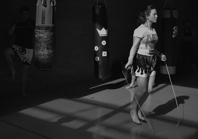 Women Training Boxing