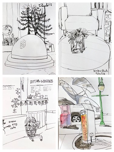 My Urban Sketching today in Downtown Anchorage   by karen.padgett