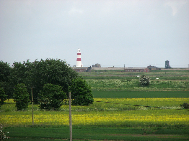 Orford Ness from Orford Castle