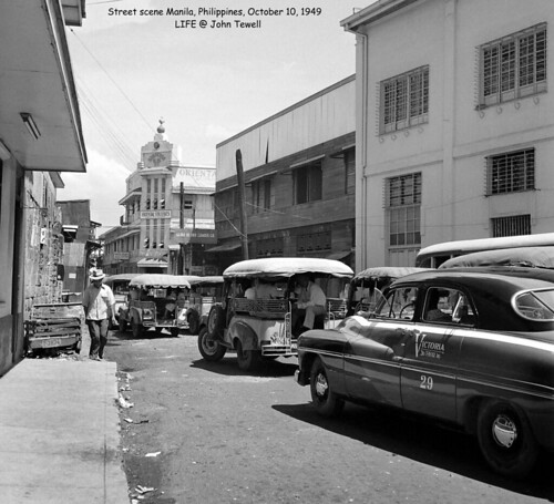 Street scene Manila, Philippines, October 10, 1949