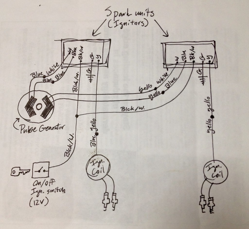 CDI electronic ignition conversion wiring schematic Honda … | Flickr