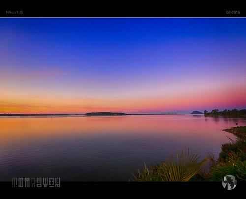 island bay sky sunset transition horizon mtmanganui bayofplenty dusk tomraven aravenimage q32016 nikon1 j5