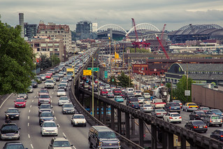 Seattle Traffic - Rush Hour on the Alaskan Way Viaduct | by Tony Webster