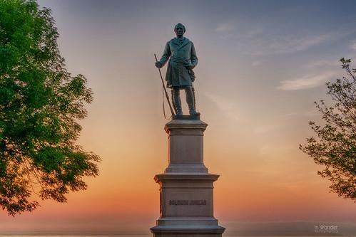 statue sculpture milwaukee wisconsin bronze dawn sunrise lakemichigan nikon hdr markadsit