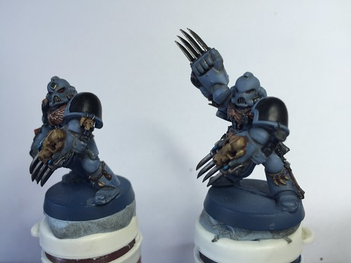 Wolf guard and Blood Claws WIP | by christhack