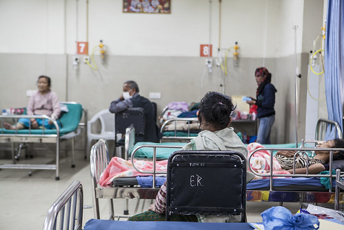 Patients wait for care at Tribhuvan University Teaching Hospital | by USAID_IMAGES