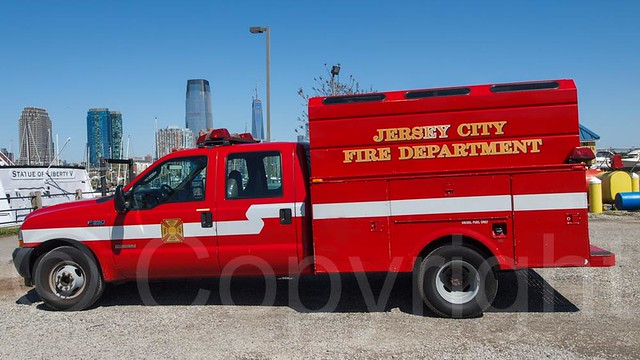 Jersey City Fire Department Truck, Liberty State Park, New Jersey