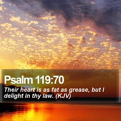 Daily Bible Verse - Psalm 119:70 | Psalm 119:70 Their heart … | Flickr