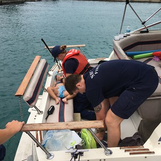 Coast Guard saves 2-year-old child who fell from vessel in Chicago | by Coast Guard News