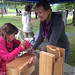8. Assembling nest boxes at Canada Day event