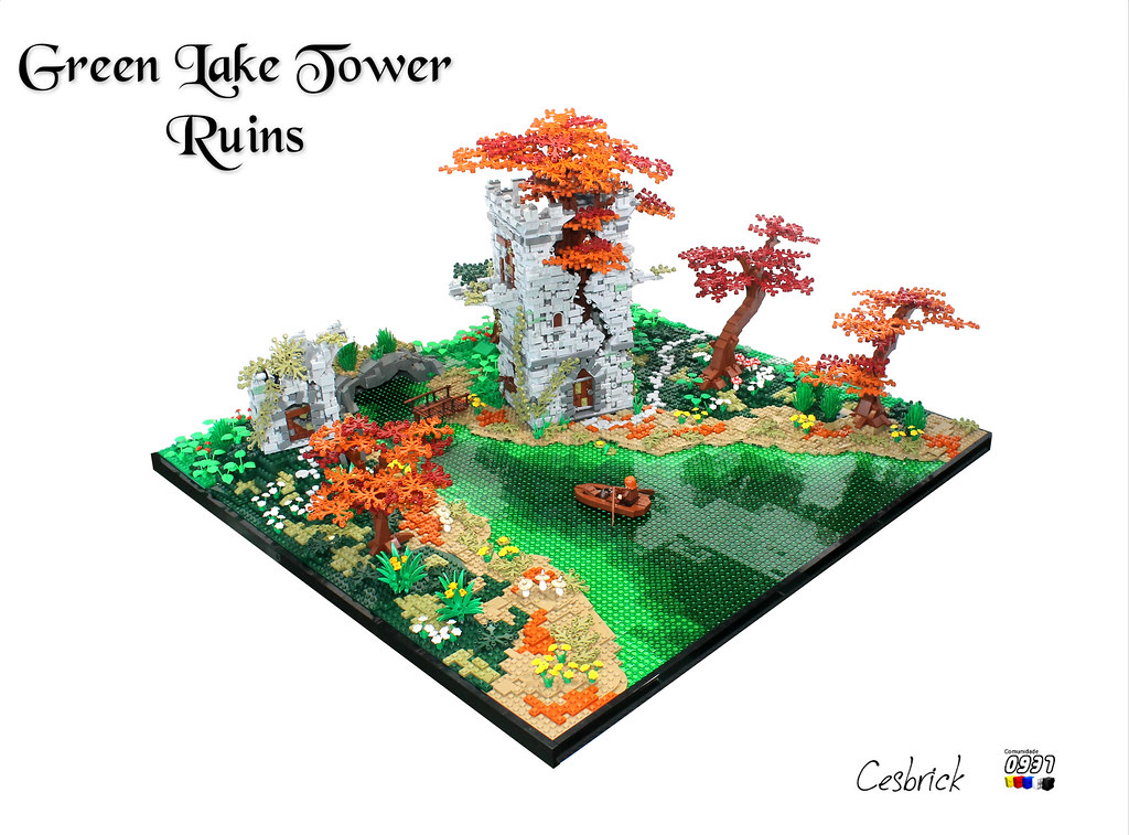 Green Lake Tower Ruins (custom built Lego model)