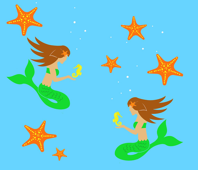 Mermaid-FatQuater=ImFeelinCrafty2