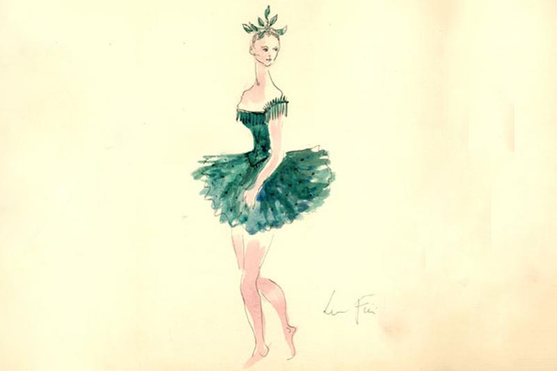 Design for Le Palais du Cristal, Watercolor & Ink on Paper, 1952 by Leonor Fini © The Estate of Leonor Fini,  CFM Gallery, New York