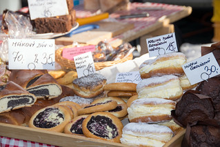 pastries at the Prague farmers' market | by Paul and Jill