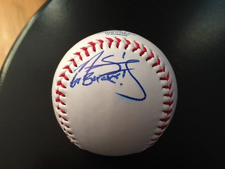 Nick Sergakis autographed ball | by Julie Rubes