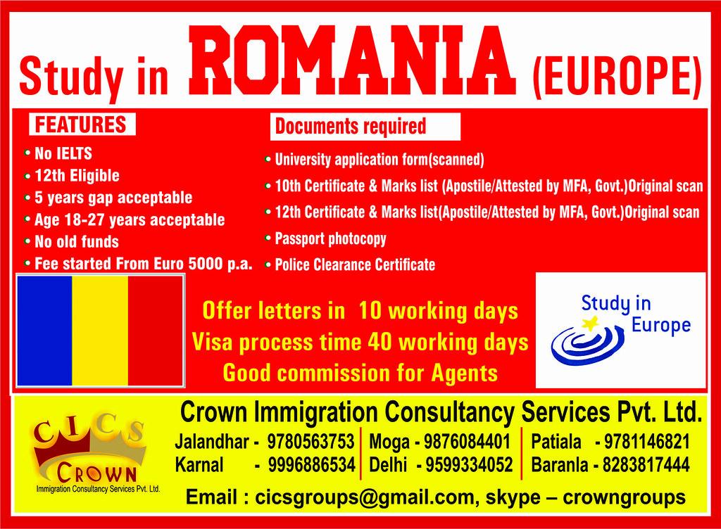 romania_study_Crown_Immigration_Satish_Kumar | Study in Roma