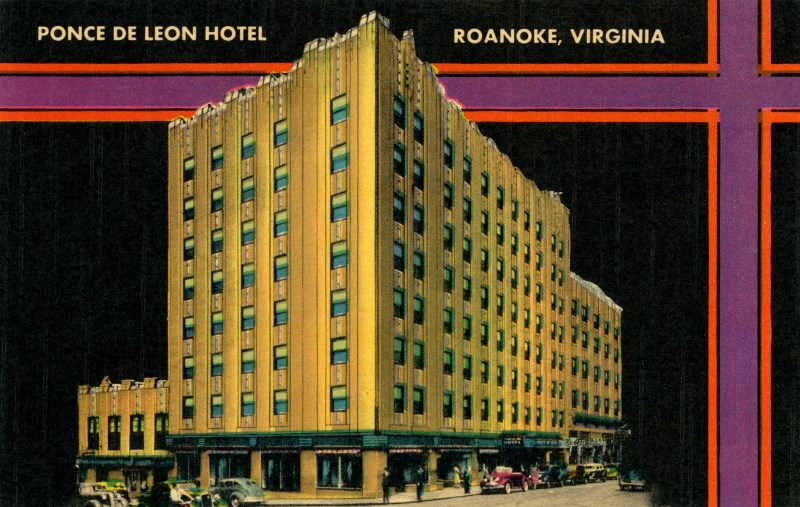 Ponce De Leon Hotel, Roanoke, Virginia | Originally posted o ... on