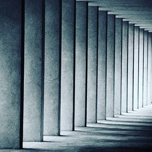 Columns and shadows  #ModernArchitecture #Building #Blackandwhite #Columns #Light #Shadow #Modern #Milano #Milamo #igersmilano #Abstract #archidaily #archilovers #Architecture #architecturelovers #City #design #geometric #geometry #lines #minimal #pattern | by Mario De Carli